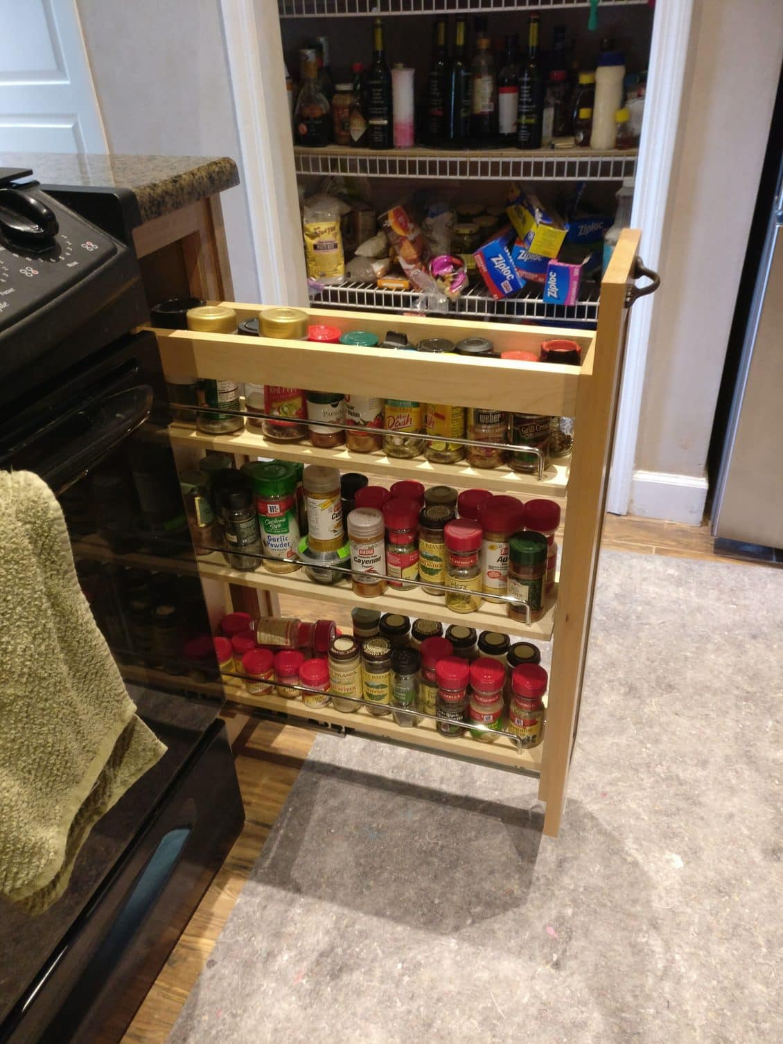 kitchen storage and organization spice rack