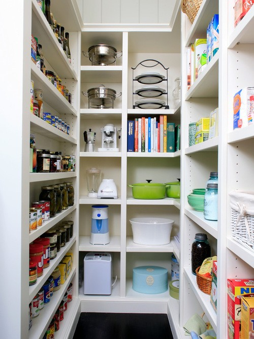 a small but useful walk in pantry